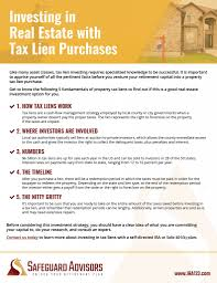 Invest In Tax Liens With A Real Estate Ira