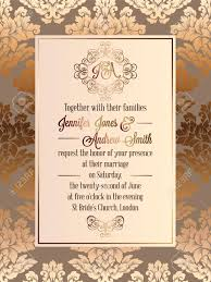 Elegant Invitation Cards Vintage Baroque Style Wedding Invitation Card Template Elegant