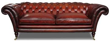 Stylish Victorian Leather Chesterfield 3 Seat Sofa In Hand Dyed