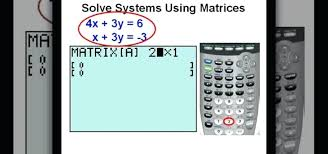 solve linear equations calculator math how to use matrices to solve systems of equations on a a