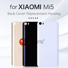 2019 glass panel for xiaomi mi5 back cover replacement housing mi 5 battery cover replace door for xiaomi mi5 replaceable back cover from shuokai004