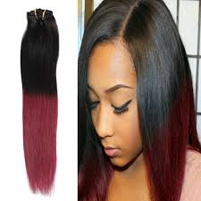 curl hair gel and 18inch 70g 7pcs ombre color 1b bugnatural black to burdy