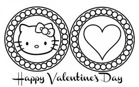 Small Picture Hello Kitty Coloring Pages Valentines Day Cartoon Coloring pages