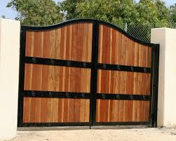 ... Engaging Picture Of Home Exterior Decoration With Various Wooden Gate :  Delectable Picture Of Home Exterior ...
