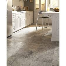 Travertine Kitchen Floor Tiles Msi Silver Travertine 18 X 18 Travertine Tile In Honed Gray