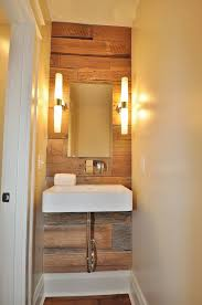 Powder Room Design Ideas contemporary powder room with frameless mirror undermount sink powder room wood paneling