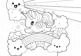 rainbow coloring page template printable color