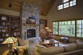 nice looking stone fireplace design ideas with stacked stone fireplace and rectangle shape black iron fireplace plat panels screen and clear glass candle