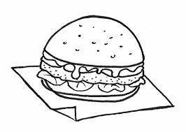 Disegni Da Colorare Panino Hamburger Con Pomodori
