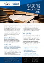 usefp fulbright scholar program flyer fulbrightscholar2017flyer jpg