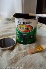 how to paint fireplace brass surround 1
