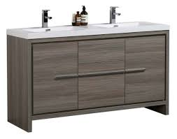 gray double sink vanity. aquamoon granada 60 maple grey double sink bathroom vanity gray