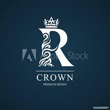 Name Card Amazing Elegant Letter R Graceful Royal Style Calligraphic Beautiful Logo