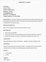 19 Download Sample Resume Format For Bpo Jobs Bpo Resume Format