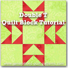 Double T Quilt Block Tutorial: Includes Free Paper Piecing ... & Double T quilt block instructions Adamdwight.com