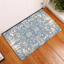 thin bathroom rugs yj bear thin geometric abstract flower pattern rectangle doormat