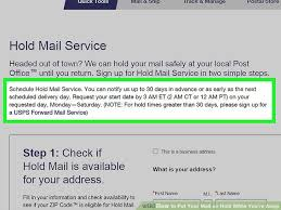 How To Put Your Mail On Hold While You Re Away 8 Steps
