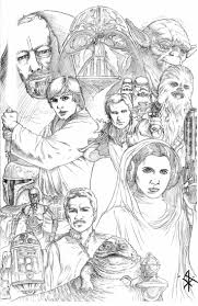 Star Wars Collage Pencils By Bentti