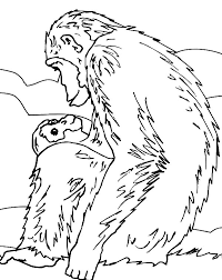 Small Picture Picture of Chimpanzee Coloring Page Picture of Chimpanzee