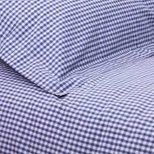 navy blue gingham single duvet set