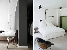 decorating bedroom design with white walls and white tiled floor furnished two bed pillows black black black white bedroom design suggestions interior