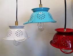 repurposed lighting fixtures. Repurposed Colanders As Light Fixtures Lighting A