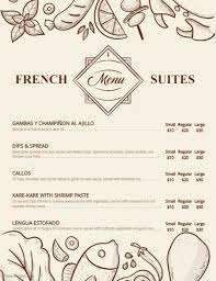 french menu template modern french bistro menu template postermywall