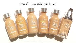 swatches parison l oreal true match foundation spf17