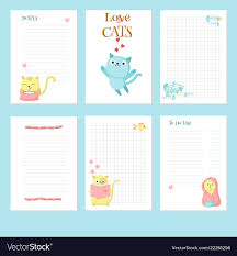 Cute Contact List Template Planner Template With Cute Pet Cats