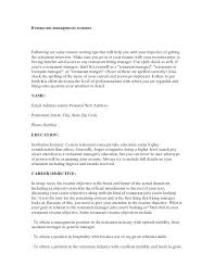 resume objectives for management restaurant resume objectives 2 objective  statement examples for management server resume objectives