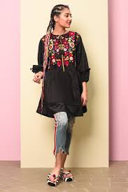 Ethnic Kurti Design Ethnic By Outfitters Fusion Kurti Wtb191773 Lawncollection Pk