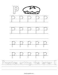Letter P Tracing Worksheets Worksheets for all | Download and ...