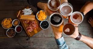Happy pair: Good beer and good food