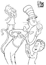 Small Picture Cat In The Hat Coloring Pages Free The Cat In The Hat Get Free
