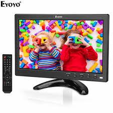 <b>Eyoyo EM10V 10 inch</b> Small TV Monitor 1024x600 LCD Screen TV ...