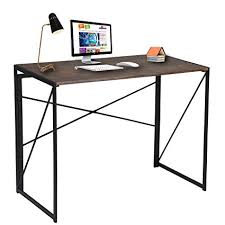 tables for home office. Writing Computer Desk Modern Simple Study Industrial Style Folding Laptop Table For Home Office Brown Tables