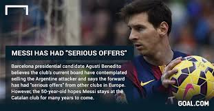 Messi Quotes Awesome Benedito Suspects Barcelona Board Wanted To Sell Messi Goal