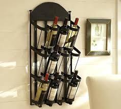 wrought iron wine racks wall mounted vintners mount rack pottery barn glass21 rack