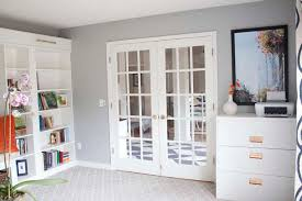 office bookcases with doors. Office Makeover Reveal | IKEA Hack Built-in Billy Bookcases With Doors
