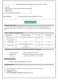 Resume Examples Microsoft Word Resume Templates Microsoft Word 2007 Free Download Professional