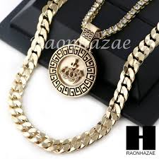 details about iced out round tennis chain diamond cut 30 cuban link chain necklace s041