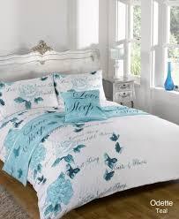 odette teal bed in a bag duvet quilt cover bedding set single double king