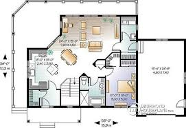 House plan W  V detail from DrummondHousePlans com    st level Chalet  large terrace  bedrooms  living rooms  master suite