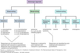 Adrenergic Receptors Chart Adrenergic Agonists And Antagonists Goodman Gilmans
