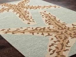 starfish rug pottery barn coastal area rugs seashell bath ocean themed living room awesome large size