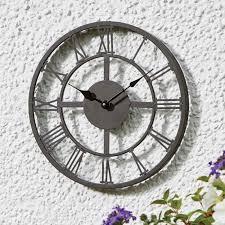 outdoor garden clocks at