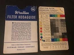 Wratten Filter Chart Vintage Wratten Filter Guide From Eastman Kodak Company