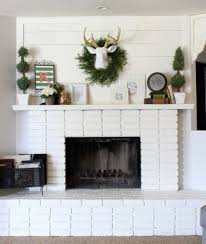 this is what my fireplace and mantel looked like before i had white washed it and i liked how it turned out at the time but as time went on i was