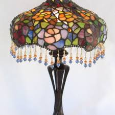 tiffany style stained glass lamp art nouveau victorian art deco hollywood regency
