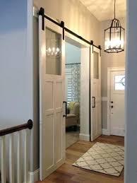 barn doors with glass sliding barn door hardware for double doors barn style sliding glass doors